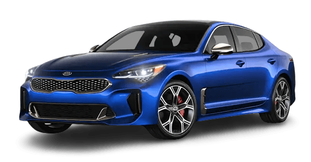 Front side view of Kia Stinger GT
