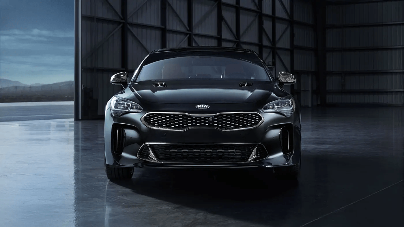 Head-on view of a Kia Stinger